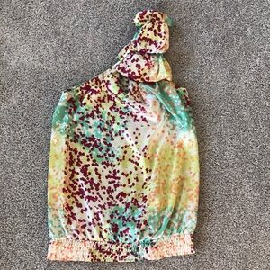 Multi colored off the shoulder top